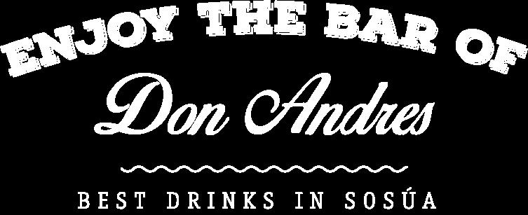 Enjoy at the bar of Don Andres