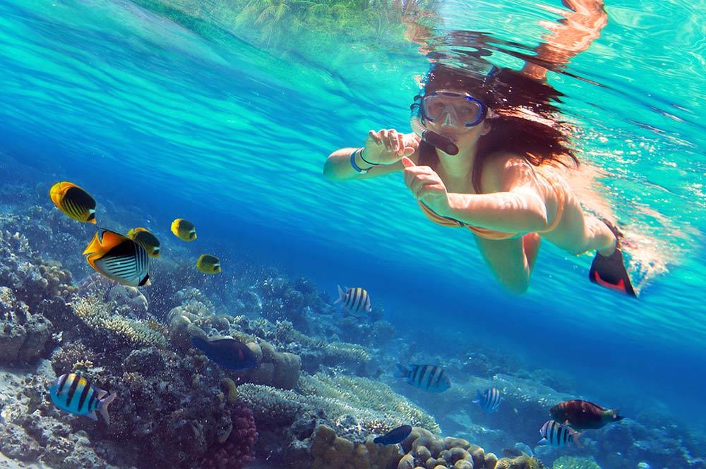 Snorkelen, snorkeling, snorkeln in Sosua