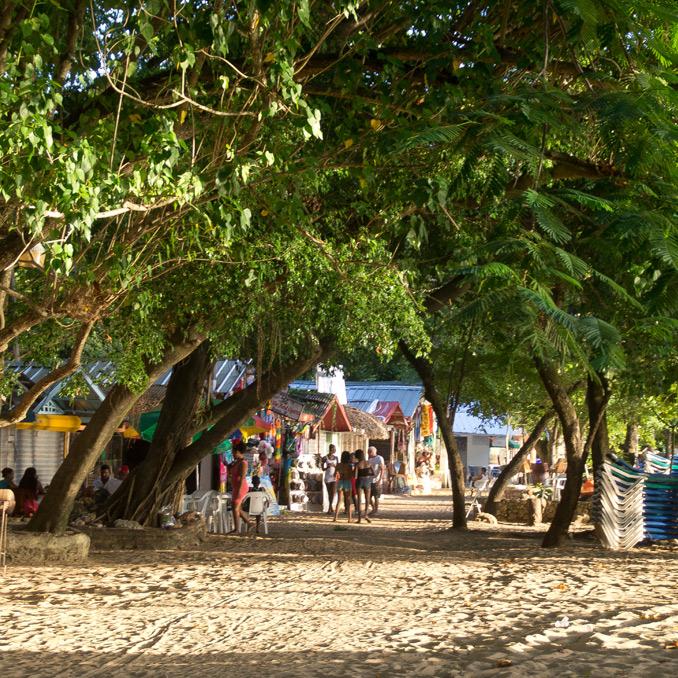 The cosy beach of Sosúa